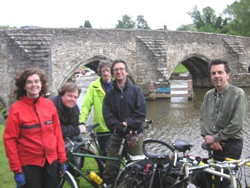 Just before the final leg of our journey - a riverside ride into Maidstone. Credit: Philip Loy