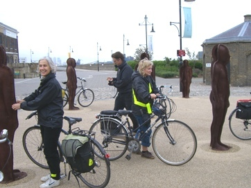 Stopping for lunch and admiring the Peter Burke sculptures at Woolwich Arsenal.