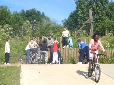Burgess Park Bike Track