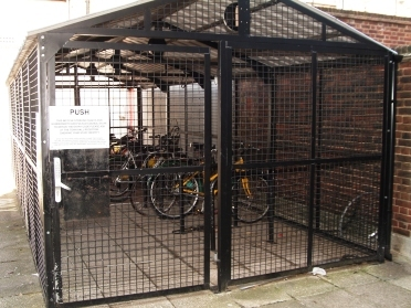 A secure bike shed Credit: Adrian Lewis