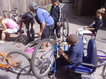 Dalston Youth project bike maintenance