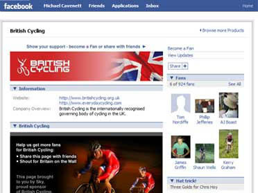 British Cycling Facebook page