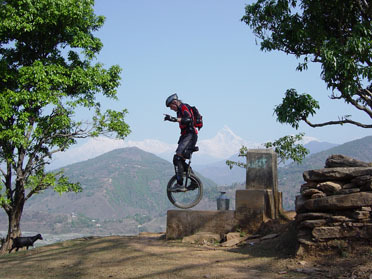 Unicycling across Nepal
