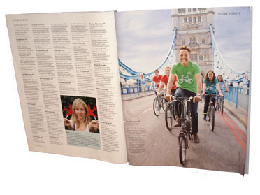 Koy Thomson and staff pictured in the Evening Standard Influentials magazine