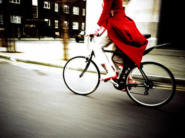 Woman on bike Credit: Kevin Meredith / Imogen Heap