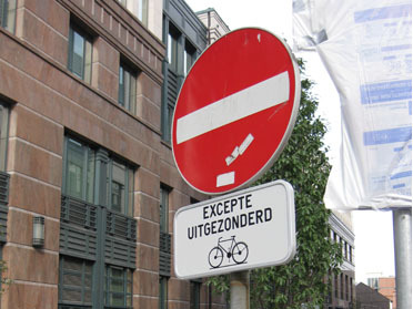 Brussels no entry except bikes