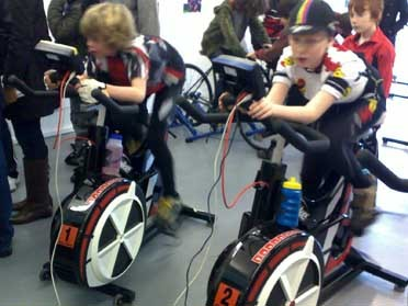 Indoor cycling event by CCH