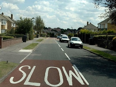 Slower speeds reduce road danger