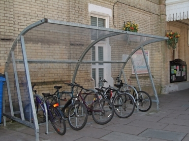 Sheltered cycle parking Credit: Adrian Lewis