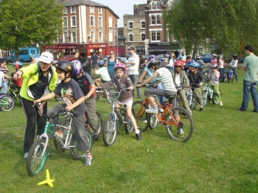 Bike buses are an excellent way for kids to start cycling to school