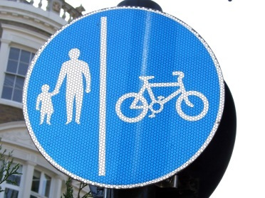 Only cycle on pavements if they are signposted for shared use