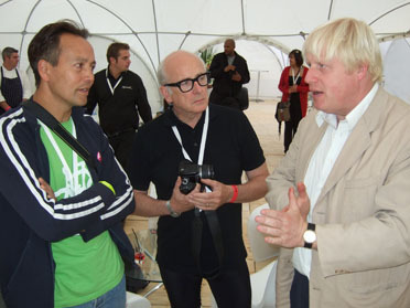 Koy Thomson, Peter Murray and Boris Johnson discuss cycling and city streets