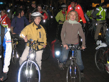 Critical Mass riders in London