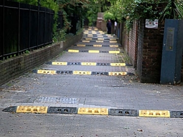 Road humps in Islington