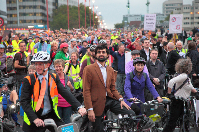 Blackfriars protest ride in 2011