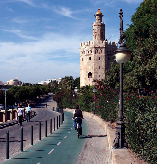Seville safer cycling scheme