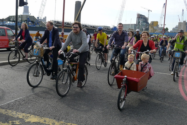 Image of London Cycling Campaign protest ride