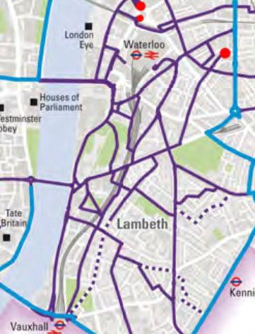 Lambeth BikeGrid routes