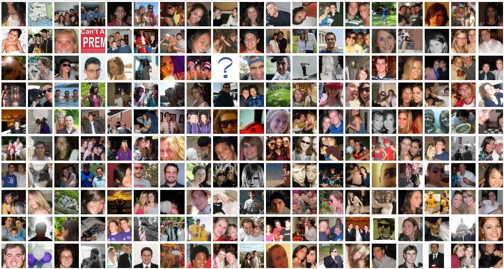 wall of Facebook faces