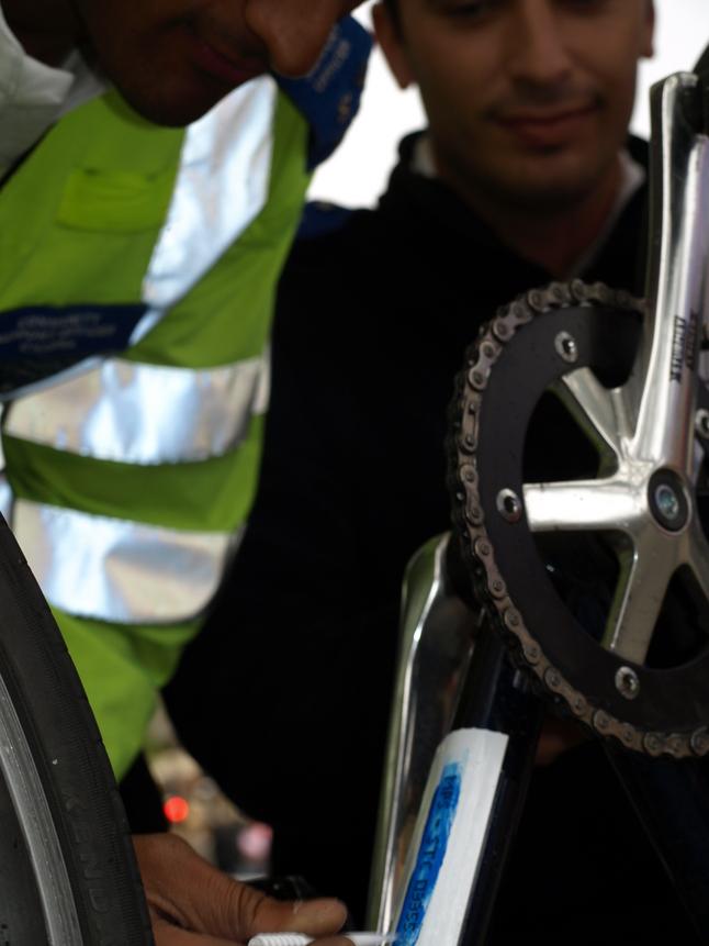 Police marking bikes