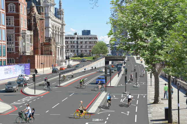 Cycle superhighway mock up