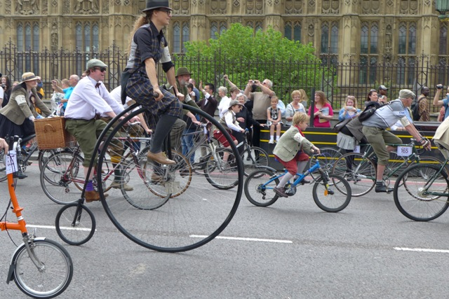 Penny farthing outside Parliament