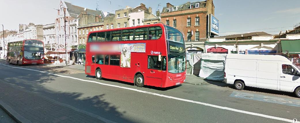 Whitechape Market and buses
