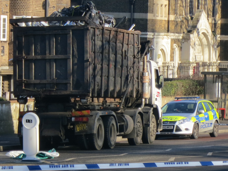 Lorry in Stamford Hill