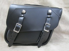 107 Short Slight Angle Leather Saddlebags