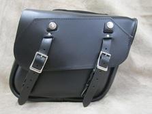 Leather Saddlebag for Harley Softails, Kawasaki Vulcans, Yamaha V Star motorcycles
