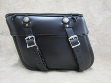 Motorcycle Saddlebags for Harley, Honda, Yamaha, Kawasaki, Indian, Triumph motorcycles, available in brown and white leather