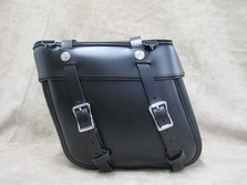 Leather Saddlebag for Harley Softails, Kawasaki Vulcans, Yamaha V Star motorcycles