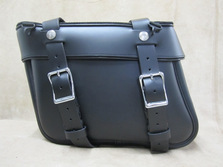111+2 Deluxe Slight Angle Leather Saddlebags
