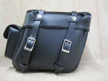Leather saddlebags for Harley Softails, Honda VTX, Kawasaki Vulcan, Victory Vegas motorcycles