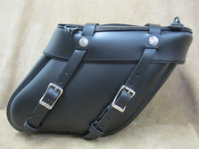 112 Deluxe Wide Angle  Leather Saddlebags