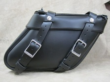 112+2 Longer Deluxe Wide Angle  Leather Saddlebags