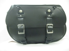 Extra Large Leather Saddlebags for Harley Davidson, Honda, Indian, Kawasaki motorcycles available in brown leather