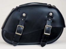 125 Large Round Leather Saddlebags