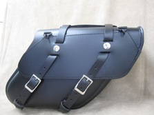 127 Retro Wide Angle Leather Saddlebags