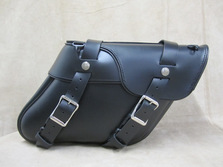 128 Deluxe Wide Angle Leather Saddlebags
