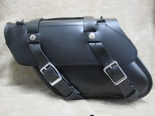 127+2 Longer Retro Wide Angle  Leather Saddlebags