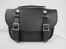 Small Retro Pony Express Leather Mail Bag Saddlebag for Motorcycles including Harley, Honda, Indian, Triumph, Yamaha
