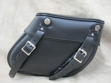 315 Small Wide Angle Leather Saddlebags