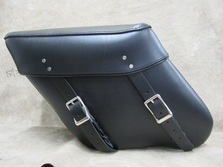 403 Economy Wide Angle Leather Saddlebags