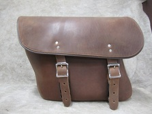 404 Brown Economy Slight Angle Leather Saddlebags