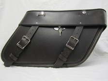 Leather Saddlebags for Harley Davidson Road King, Electra Glide, Road Glide motorcycles also available in brown leather and with matching seats