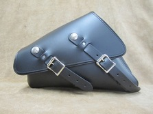 Left Side Solo Bag for Harley Davidson Sportsters available in brown and white leather
