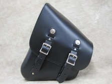 323L Left Side Frame V-Rod® Leather Solo Bag Leather Saddlebags