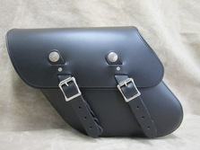 Leather Solo side bag for Harley Davidson Dynas