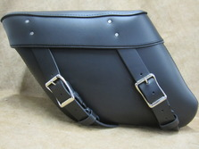 412 Economy Large Wide Angle Leather Saddlebags